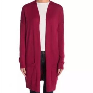 Abound Red Open Front Cardigan